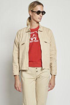 Beige jacket with zip