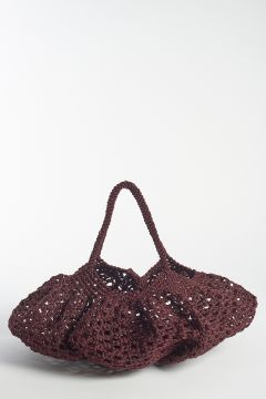 Burgundy braided bag