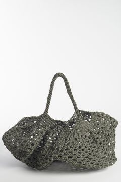 Braided gray bag