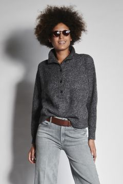 Gray sweater with buttons
