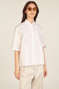 White short-sleeved shirt