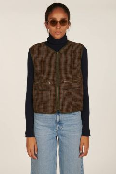 Larzac houndstooth vest