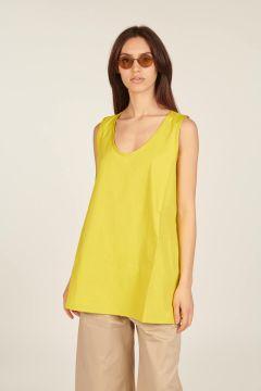 Acid yellow sleeveless top