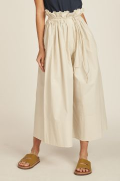 ivory pants with drawstring