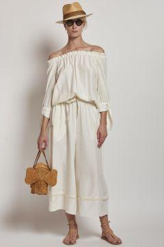 pepoli white long sleeves jumpsuit
