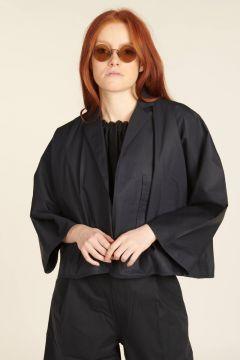 Short oversized cotton jacket