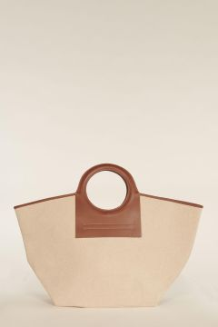 Large Cala bag with brown profiles