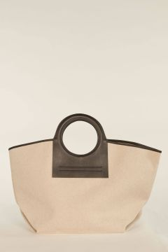 Large Cala bag with black profiles