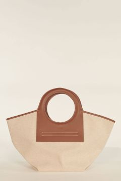 Medium Cala bag with brown profiles