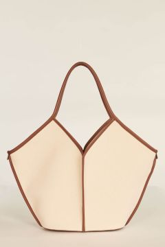 Ivory and brown Calella bag