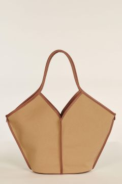 Camel and brown Calella bag
