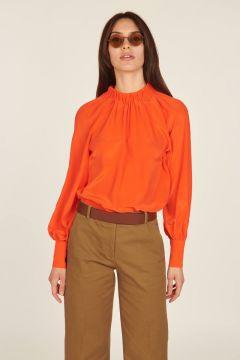 Camicia manica lunga arancio