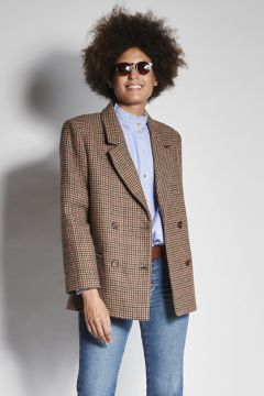 Brown houndstooth jacket