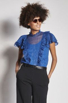 Bluette top with rouches