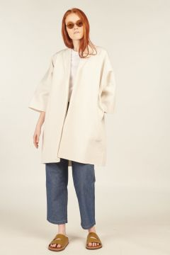 White Carlton Coat