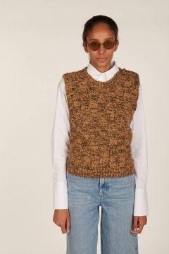 Gilet cammello misto lana Cedar
