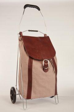 Beige shopping cart