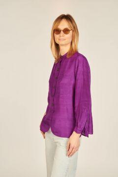 Laure purple silk shirt