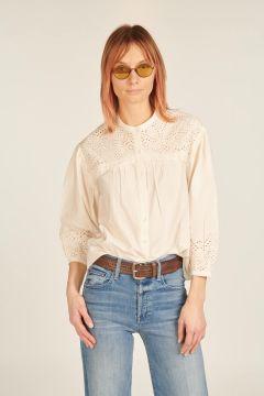 Luciole shirt with sangallo plastron