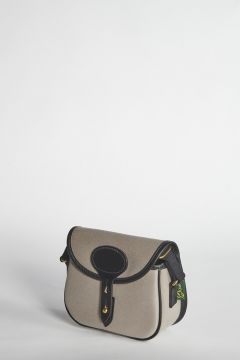 Small gray shoulder bag