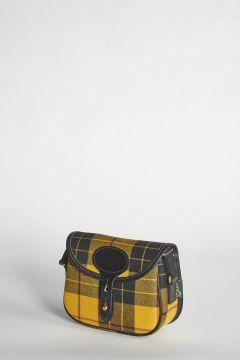 Small yellow tartan shoulder bag
