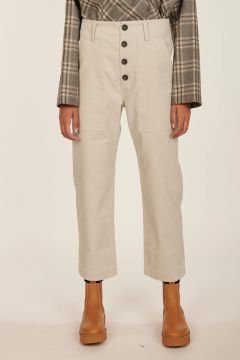 Pilot mastic nude cropped cotton pants