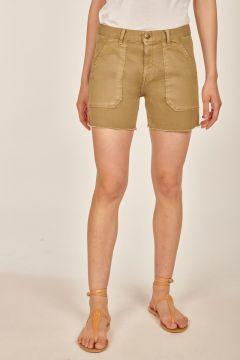 Military green shorts