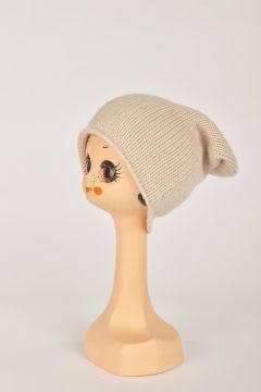 Cappello rasato beige