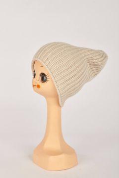Beige English knit hat