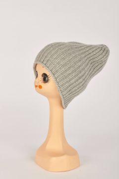 Gray English knit hat