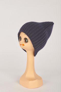 Blue English knit hat