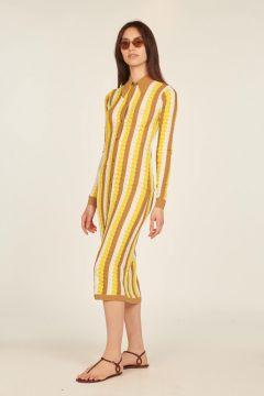 Dar long striped dress