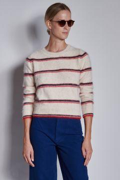 Soft striped ivory sweater