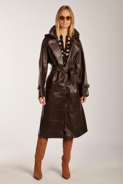 Terry leather trench coat
