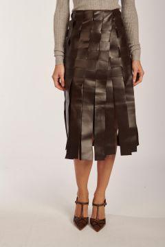 Gigi skirt in fringed leather