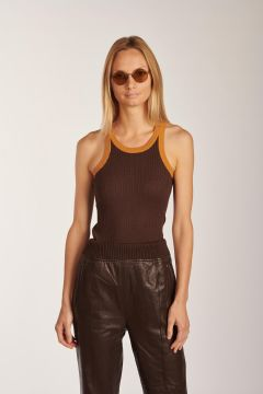 Cliff ribbed tank top