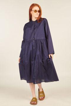 Blue Dimple Cotton Dress
