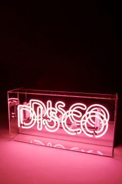 Neon light pink Disco
