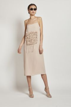 light dress with laser embroidery