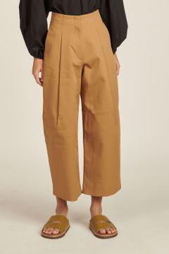 Pantaloni beige con pinces