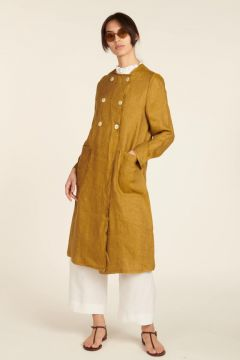 Overcoat in linen