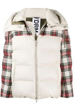 Down jacket with Scottish details