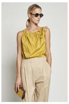 Yellow cotton top