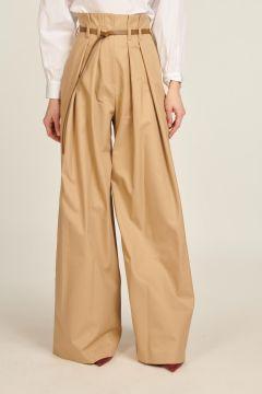 Pantaloni a vita alta con pinces