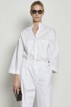White korean cotton shirt