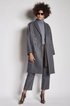 Cappotto doppiopetto grigio
