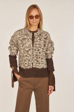 Wool melange cardigan