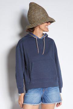 Blue hooded sweatshirt