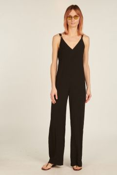 Long black Fasme overalls