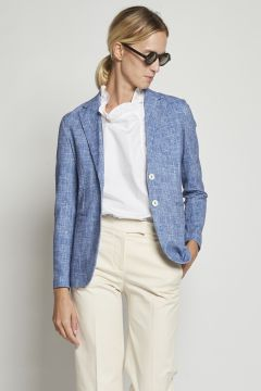 Melange blue cotton jacket